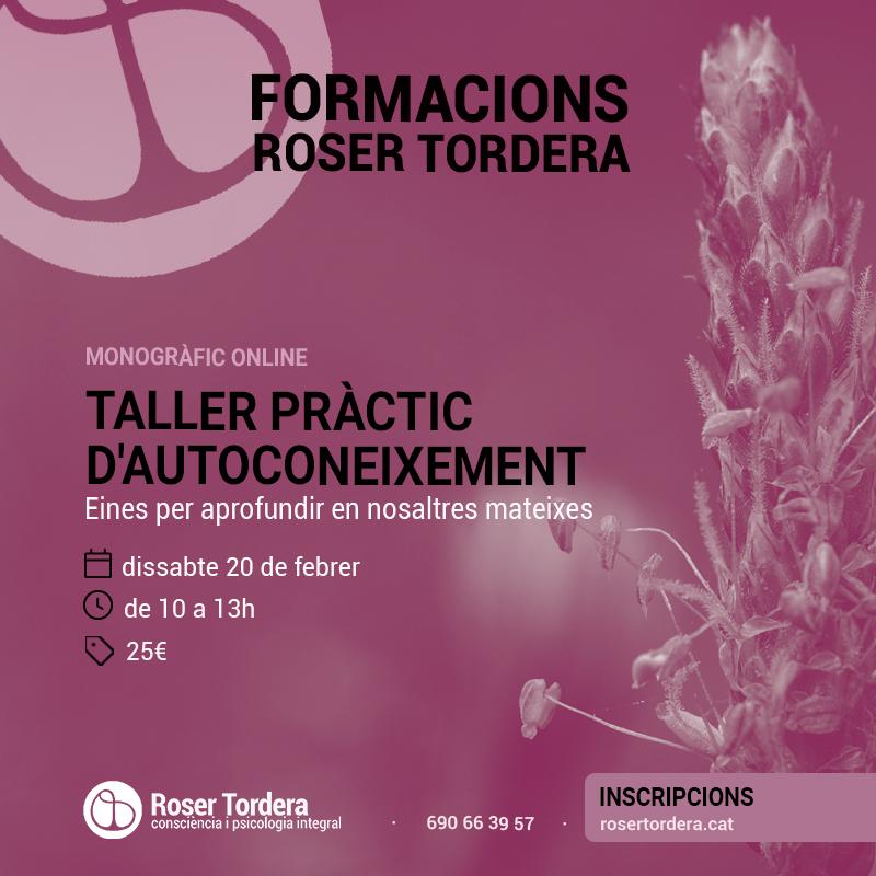 Taller d'autoconeixement - Roser Tordera